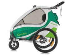Qeridoo Vozík za kolo - Qeridoo KidGoo 2 2017 zelený