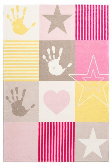 Obsession Dětský kusový koberec Stars 411 pink 120x170