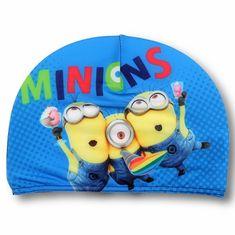 SETINO Chlapčenská plavecká čiapka - Mimoni - modrá