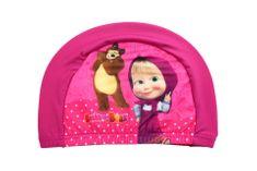 SETINO Dievčenská plavecká čiapka - Máša a medveď - fialová