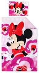 """SETINO Detské obliečky """"Minnie Mouse"""" - 90x140, 55x40 ružová"""