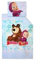 """SETINO Otroška posteljnina """"Maša in medved"""" - 140x200, 70x90 roza"""