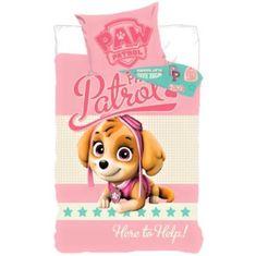 SETINO Lányok pamutlemezei PAW Patrol - 90x140, 55x40 rózsaszín