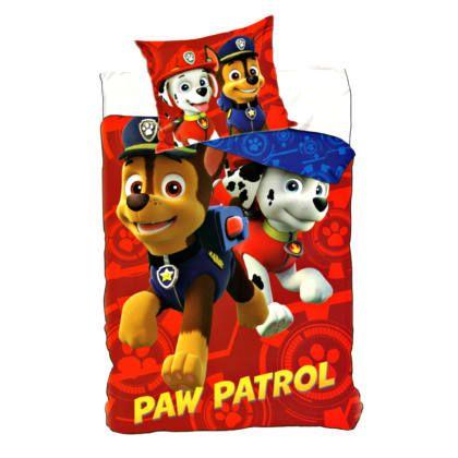 """SETINO Otroška posteljnina """"Tačke na patrulji"""" - 155x200, 50x80 rdeča"""