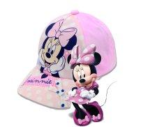 """SETINO Dziewczęca czapka z daszkiem BABY """"Myszka Minnie"""" - jasny niebieski"""