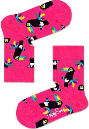 Happy Socks lány zokni Toucan Sock, 12 - 24, rózsaszín