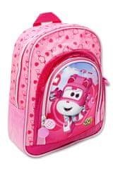 SETINO Gyerek hátizsák lányoknak SUPER WINGS elülső zsebbel - rózsaszín