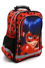 """SETINO Lány iskolatáska """"Miraculous""""- piros - 29x43x13 cm"""
