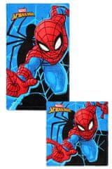 SETINO GS Detský uterák na ruky + uteráčik na tvár Spiderman - modrá set 2 ks - 30x50, 30x30 cm