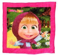 """SETINO Gyermek varázs törölköző az arc """"Mása és a medve"""" 1 - rózsaszín, 30x30 cm"""