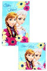SETINO GS Dětský ručník na ruce + ručníček na obličej Frozen - růžová set 2 ks - 30x50, 30x30 cm