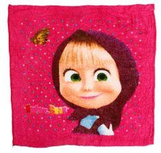 SETINO GS Dětský kouzelný ručník na obličej Masha 3 - růžová, 30x30 cm