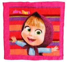 SETINO GS Dětský kouzelný ručník na obličej Masha 4 - růžová, 30x30 cm