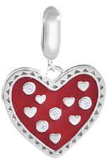 Infinity Love Stříbrný srdíčkový přívěsek HTS-346-S stříbro 925/1000