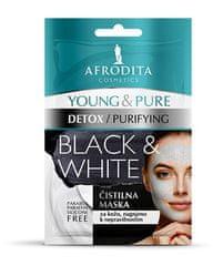 Kozmetika Afrodita Young & Pure Black & White maska za lice, 2x5 ml