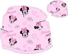 Eplusm Detská bavlnená jarná / jesenná čiapka pre dievčatá Minnie - Ružová