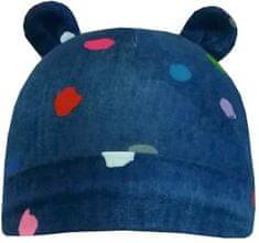 Yetty czapka niemowlęca dziewczęca, z uszami - w kropki