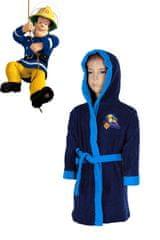 SETINO Chlapčenský župan s kapucňou Hasič SAM - tmavo modrá