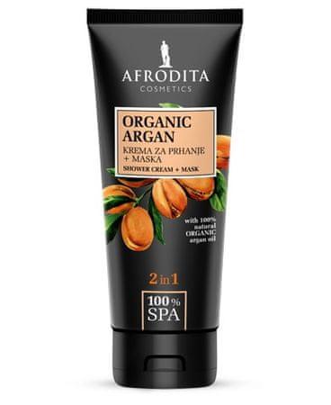 Kozmetika Afrodita SPA Organic Argan krema za prhanje + maska, 150 ml