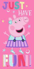 """SETINO Gyermek törölköző """"Peppa malac"""" - rózsaszín - 70 x 140 cm"""