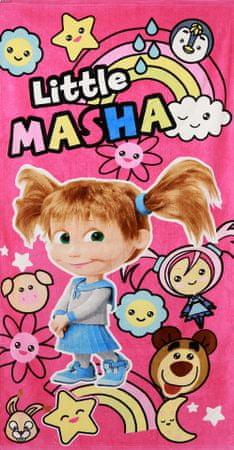 """SETINO Otroška brisača """"Maša in medved"""" - roza - 70 x 140 cm"""
