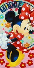SETINO plážová bavlnena osuška dievčenská - Minnie Flower - ružová - 70x140