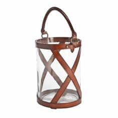 Balmuir Sklenená lampáš KENSINGTON L, cognac 25 x 40 cm