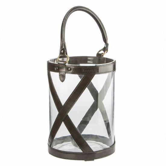 Balmuir Sklenená lampáš KENSINGTON M dark brown 20 x 30 cm
