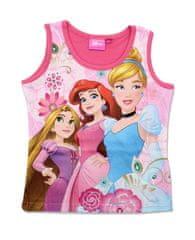 """SETINO Koszulka dziewczęca bez rękawów """"Księżniczki disneya"""" - ciemno różowy"""