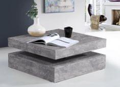 Konferenční stolek ANAKIN, světle šedý beton, 5 let záruka