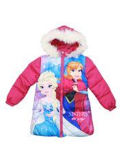 SETINO Disney dívčí zimní bunda - Frozen - tmavě růžová