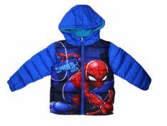 SETINO Chlapecká zimní bunda - Spiderman (Marvel) - světle modrá
