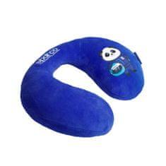 Sparco Cestovní polštář na krk pro děti, modrý, 230 x 80 mm