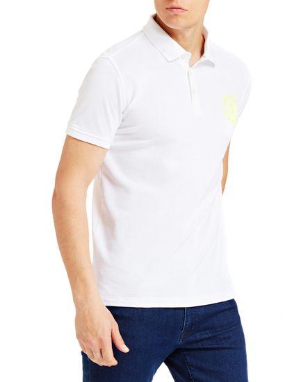 Trussardi Jeans pánska polokošeľa 52T00337-1T003600 S biela