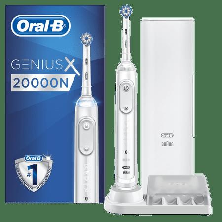 Oral-B Genius X 20000N White Sensitive električna zobna ščetka