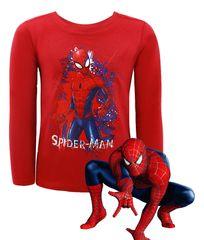 SETINO Marvel Chlapčenské tričko s dlhým rukávom Spiderman - červená