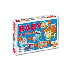 Dohany Detské Baby puzzle Modrá