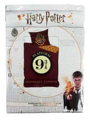 "SETINO bavlnené obliečky Harry Potter ""Nástupište 9/3-4"" - bordová 140x200, 70x90"