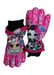 SETINO Dievčenské lyžiarske rukavice - LOL - ružová