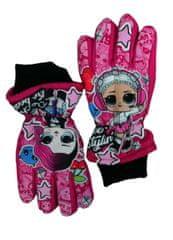 SETINO Dievčenské lyžiarske rukavice - LOL - fuchsiová