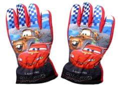 SETINO Disney chlapčenské lyžiarske rukavice - Cars-Autá - červená