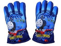 SETINO Disney chlapčenské lyžiarske rukavice - Lokomotíva Tomáš - tmavo modrá