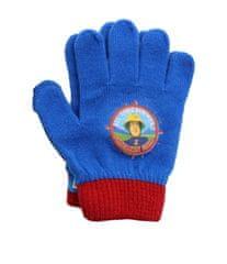 """SETINO Chlapčenské prstové rukavice """"Požiarnik Sam"""" - svetlo modrá - 12x16cm"""