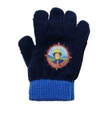 SETINO Disney chlapčenské prstové rukavice - Hasič Sam - tmavo modrá - 12x16cm