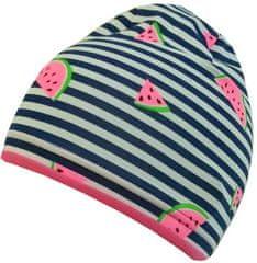 Yetty czapka dziewczęca w paski i arbuzy