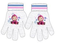 SETINO Disney dievčenské prstové rukavice - Masha - sivá - 12x16cm