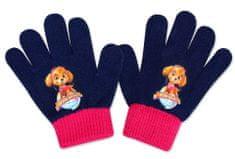 SETINO Dievčenské prstové rukavice - Paw Patrol - tmavo modrá- 10x13cm