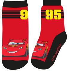 Eplusm Chlapčenské vysoké ponožky Cars McQueen 95 - červená