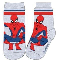 Eplusm Chlapčenské vysoké ponožky Spiderman - sivá