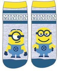 Eplusm Chlapčenské vysoké ponožky Mimoni - sivá